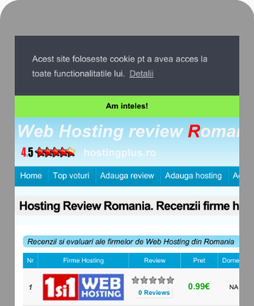 hosting review Romania